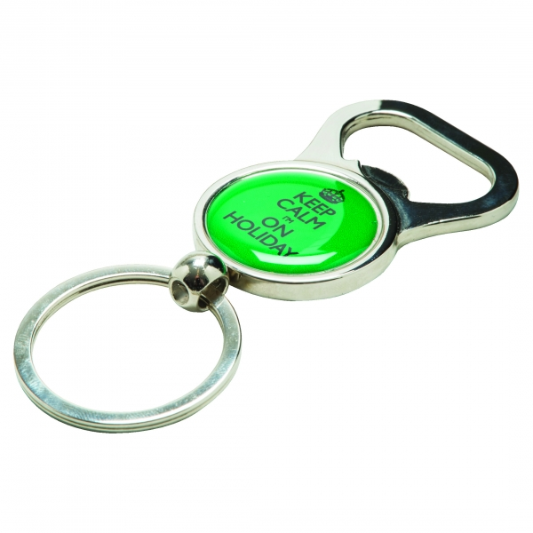 Bottle Opener Alloy Injection Keyring  UK Stock