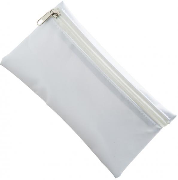 nylon pencil case white white zip