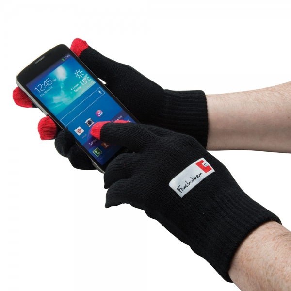 Smart Gloves (Touchscreen Gloves) - Woven Label