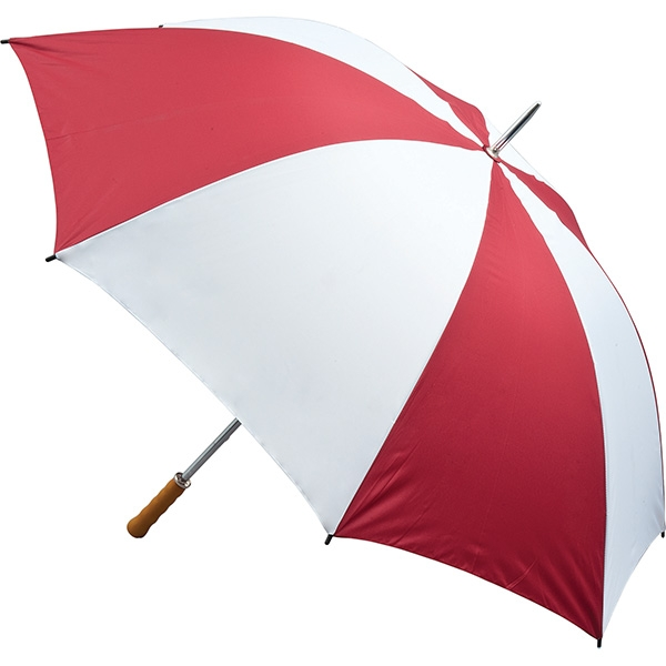 Quantum Golf Umbrella - Burgundy and White