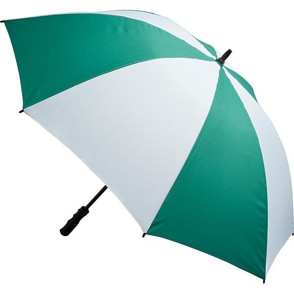 Fibreglass Storm Umbrella - Green and White