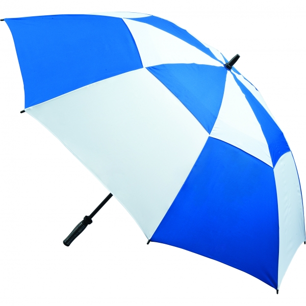Vented Golf Umbrella - Royal and White