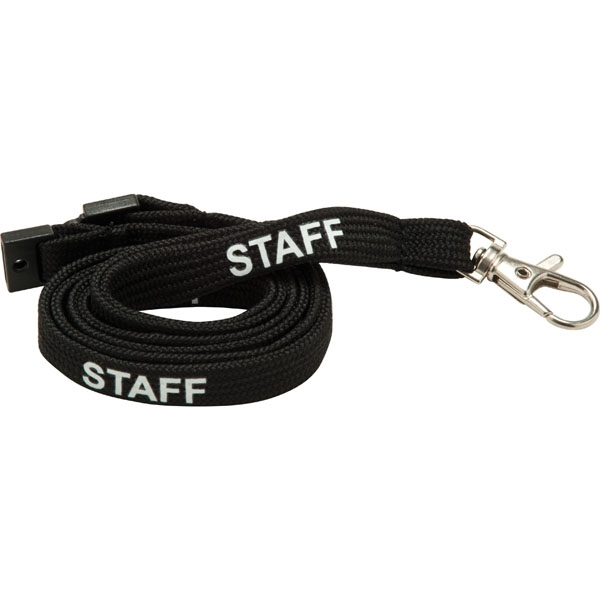 LPPS - 10mm Tubular Lanyard pre printed STAFF