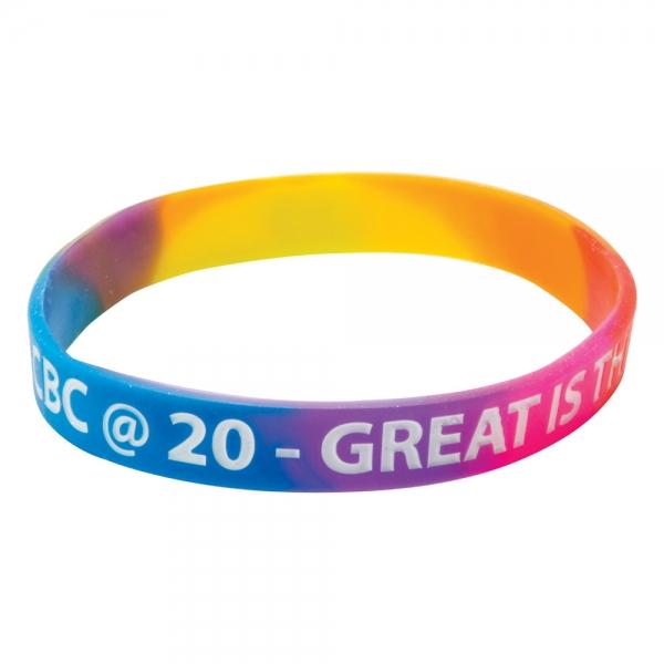 Silicone Wristbands  Multicoloured material
