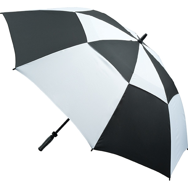 Vented golf umbrella black and white