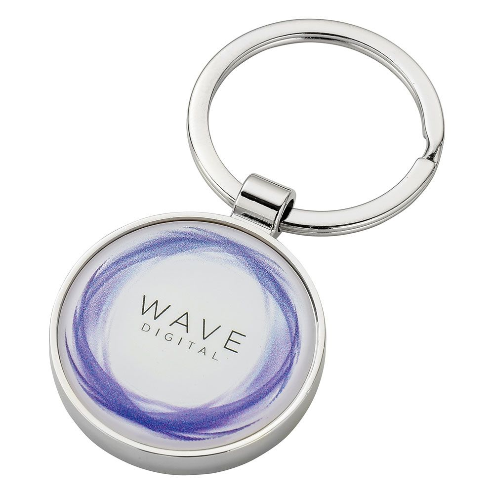 Round Alloy Injection Keyring (UK Stock)