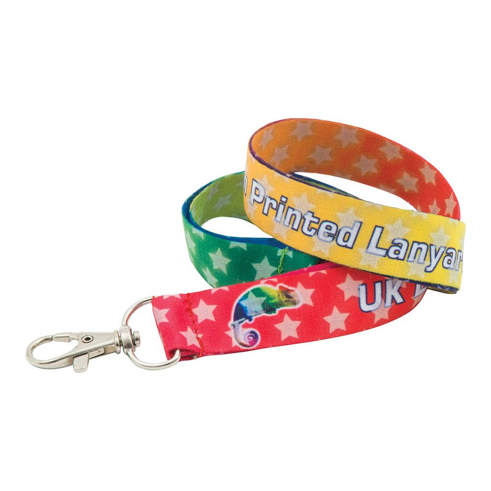 15mm Dye Sublimation Print Lanyard  UK Made  Express