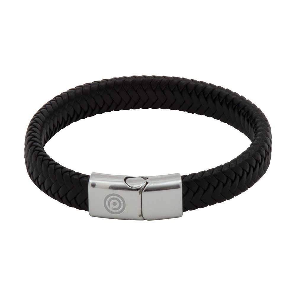 Engraved PU Cord Effect Bracelet