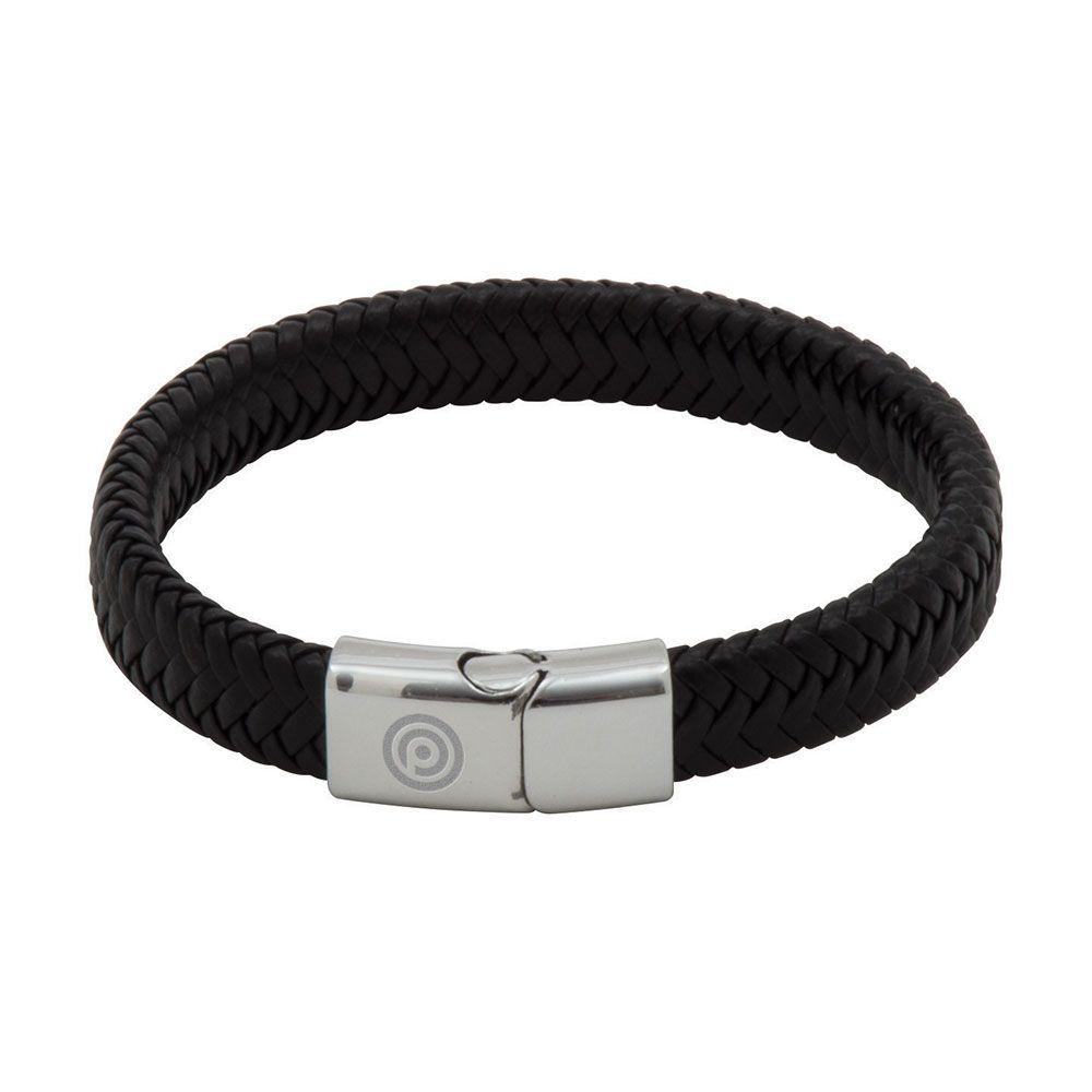 Engraved PU Cord Effect Bracelet