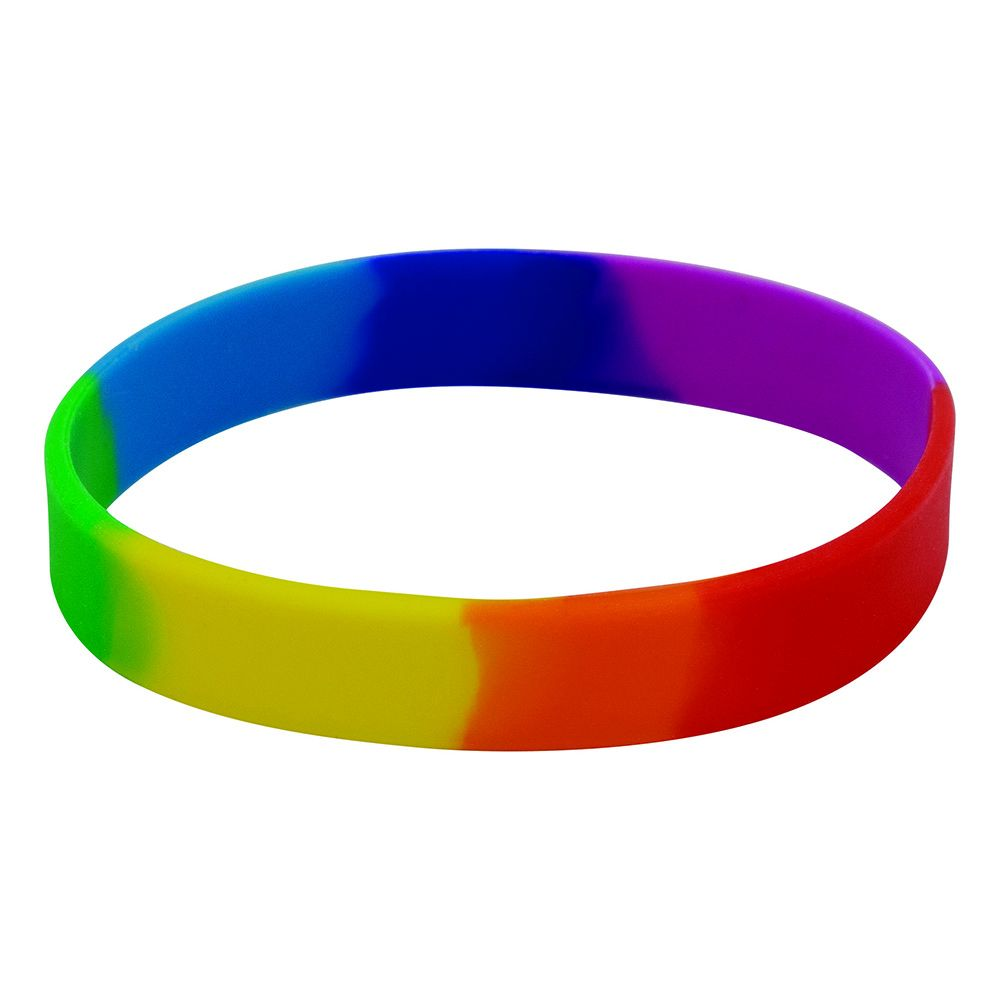 Adult Multicoloured Silicone Wristband  UK Stock