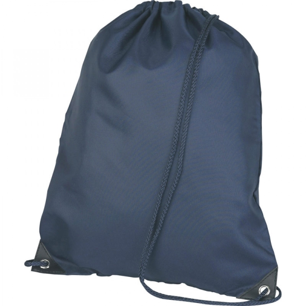 Nylon Drawstring Bag - Navy