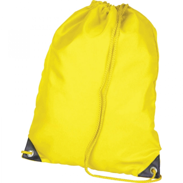 Nylon Drawstring Bag - Yellow