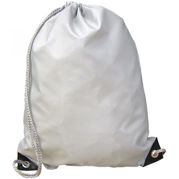 Nylon Drawstring Bag - Cool Grey