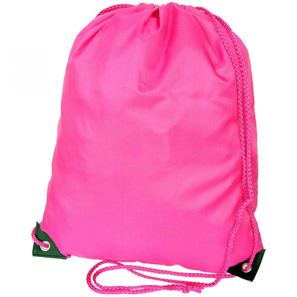 Nylon Drawstring Bag - Pink