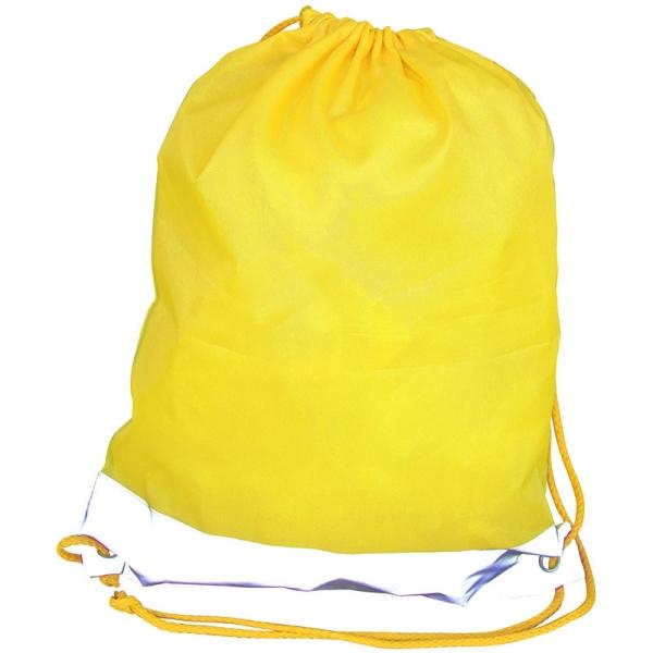 Reflective Drawstring Bag - Yellow