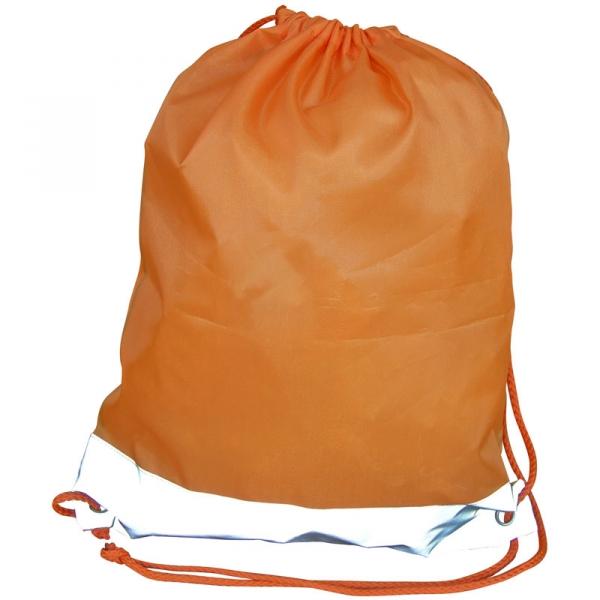 Reflective Drawstring Bag - Orange