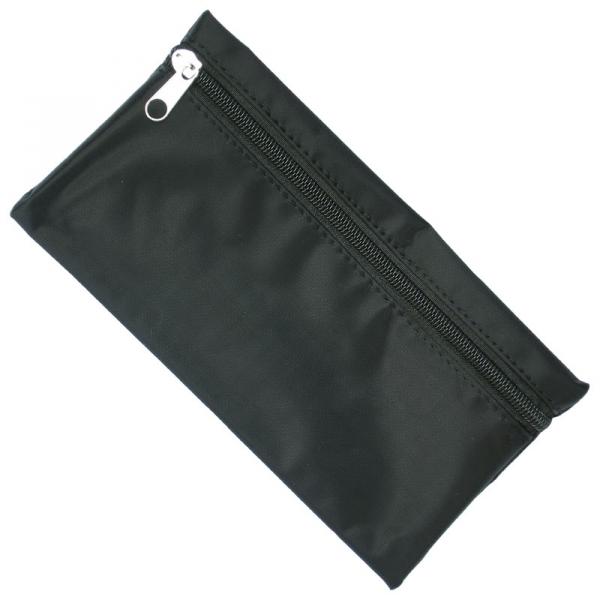 Nylon Pencil Case - Black  Black Zip