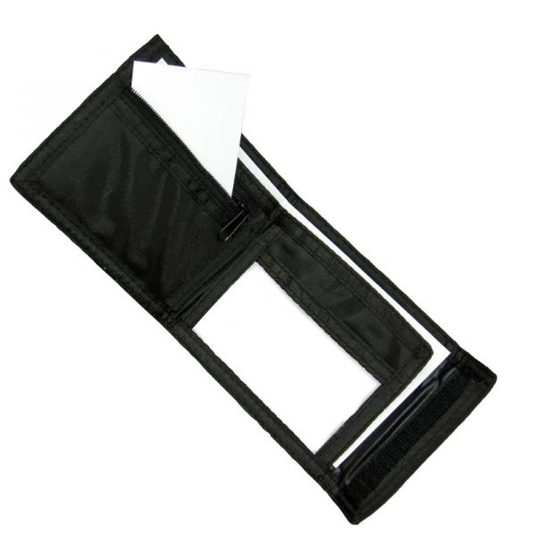 Nylon Ripper Wallet - Black