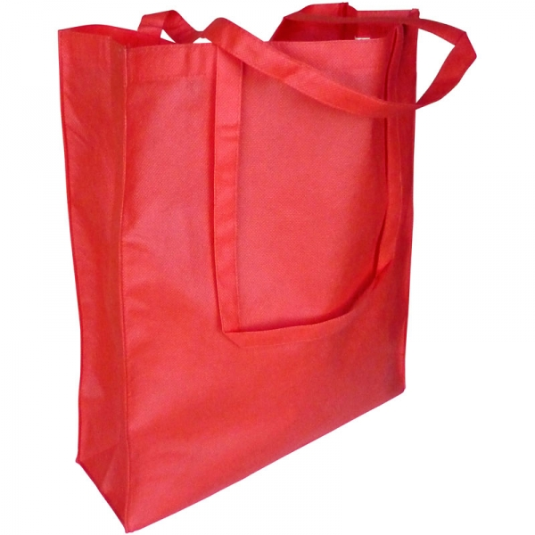 Non-Woven Bag  Gusseted  - Red