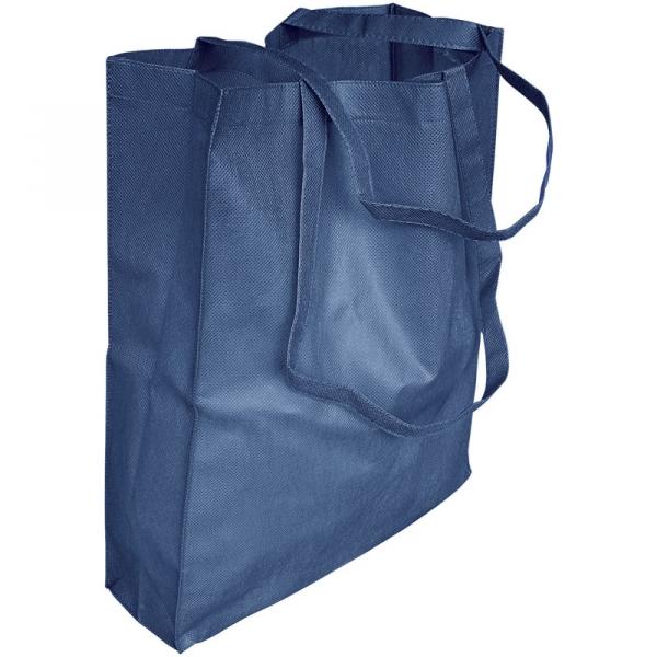Non-Woven Bag  Gusseted  - Navy