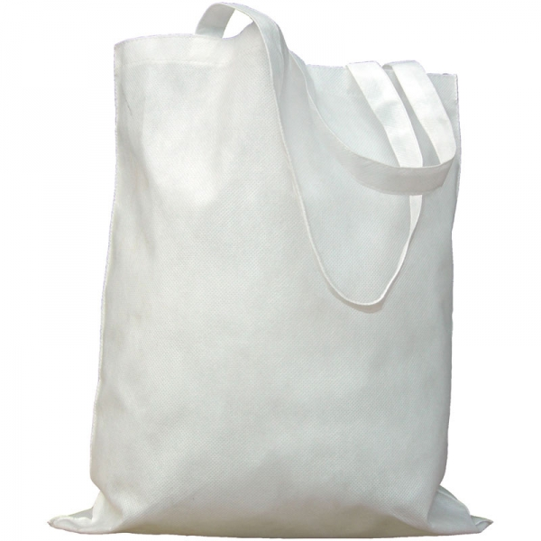 Non-Woven Bag  Without Gusset  White