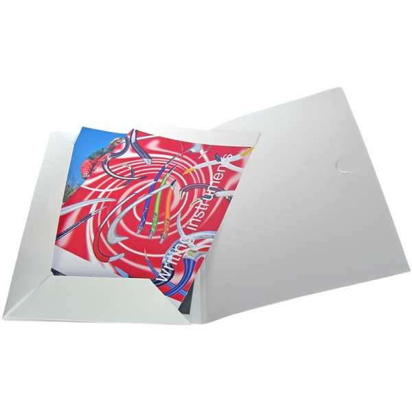 Polypropylene Conference Folder - Frosted White