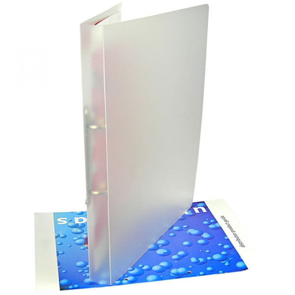 Polypropylene Ring Binder  Frosted Clear