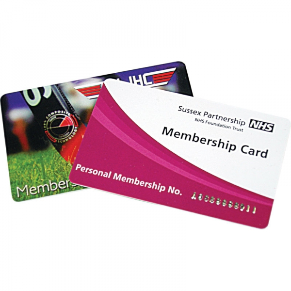 Printed Plastic Cards  86 x 54mm  0.76mm thick