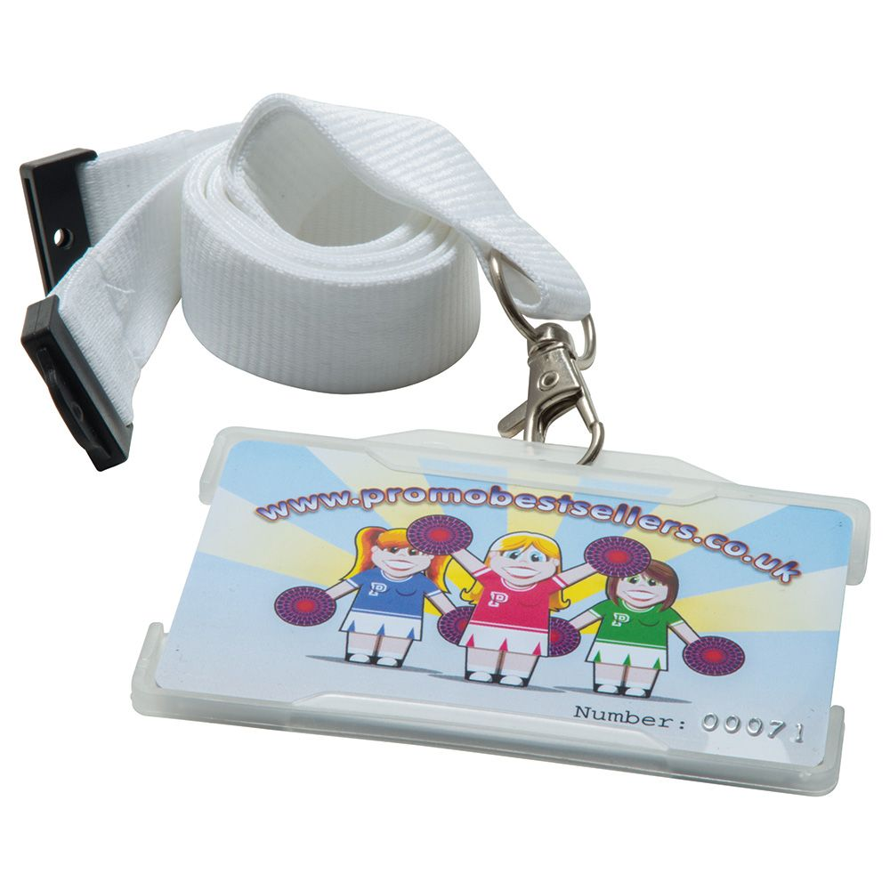 Rigid Card Holders Landscape Clear