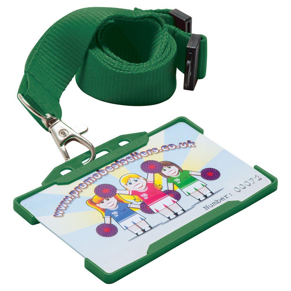 Rigid Card Holders Landscape (Green)
