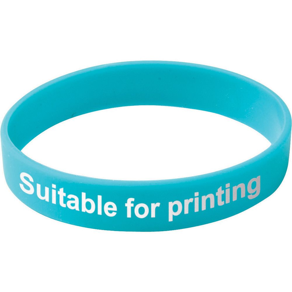 Adult Silicone Wristband  Blue  UK Stock