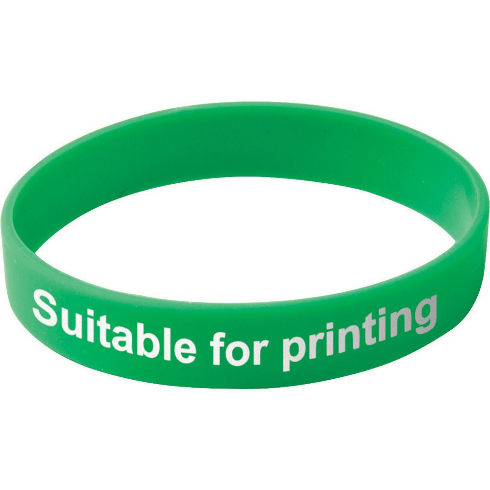 Adult Silicone Wristband  Green  UK Stock