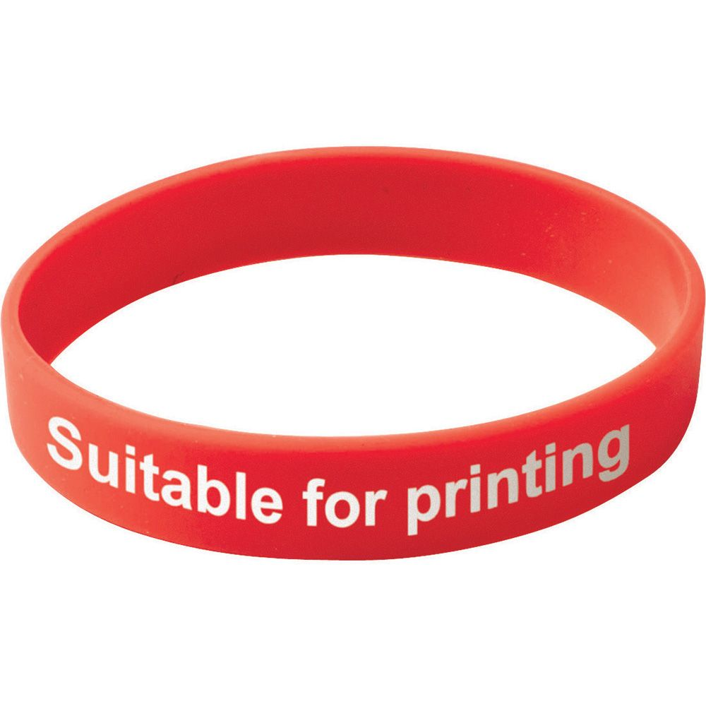 Adult Silicone Wristband  Red  UK Stock
