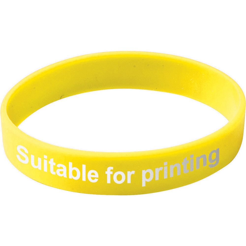 Adult Silicone Wristband  Yellow  UK Stock