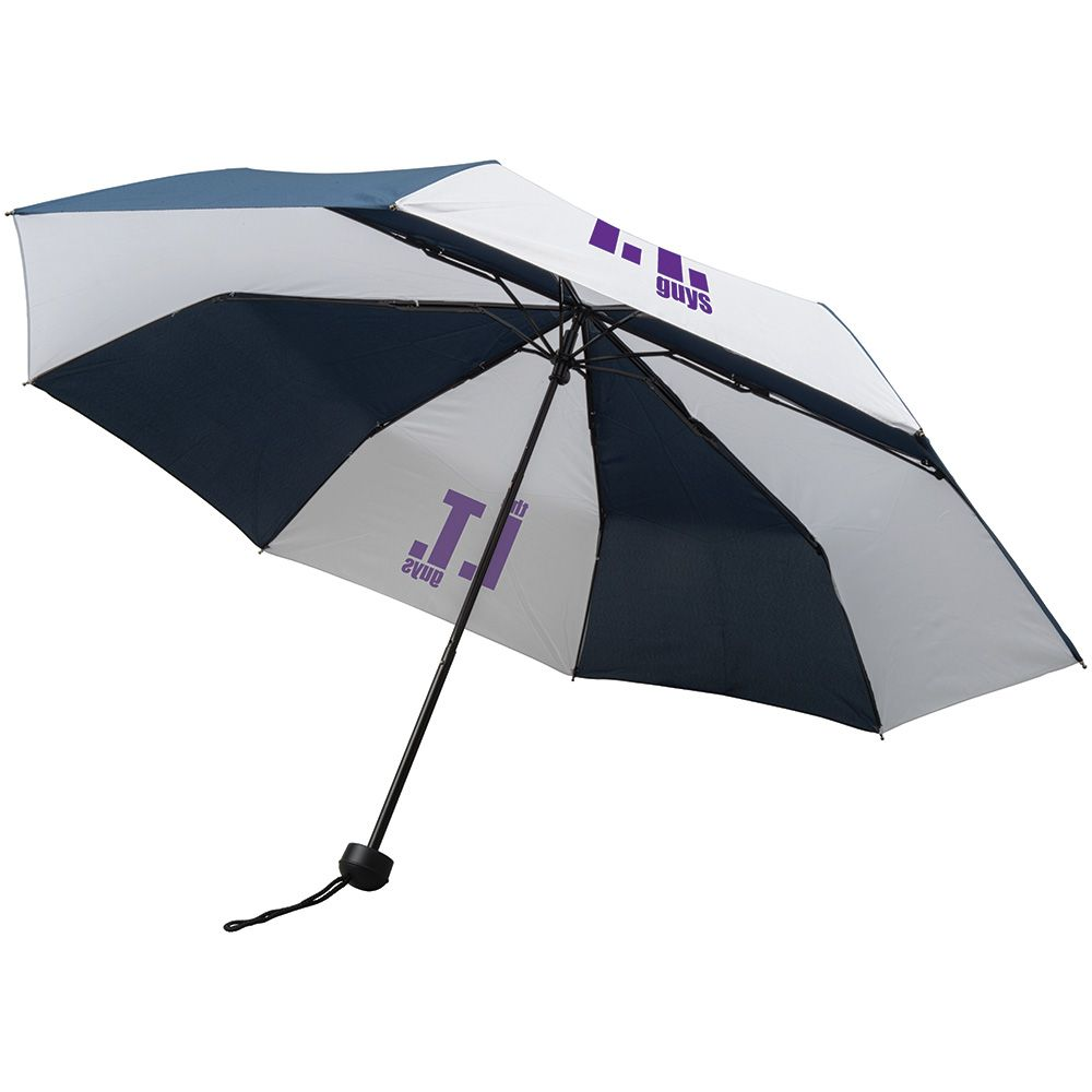 Handbag Umbrella - Navy and White