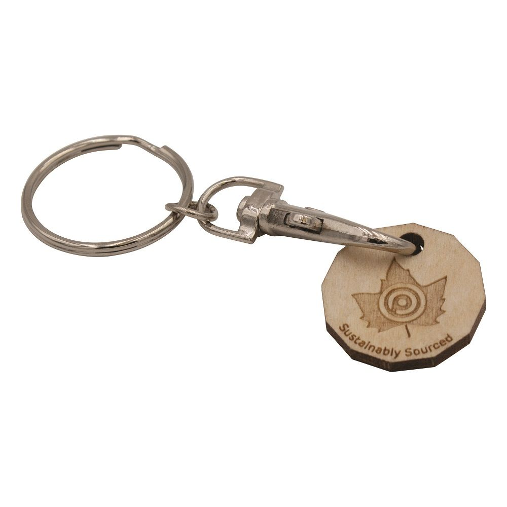 Wooden Trolley Coin Keyring